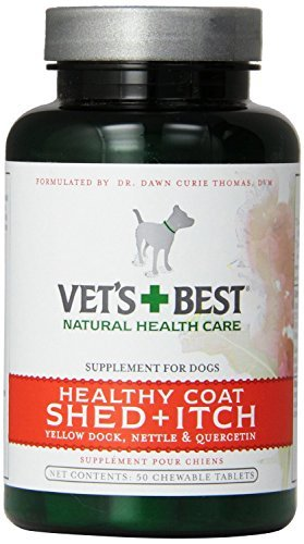 Veterinarian's Best Healthy Coat Shed & Itch Relief Chewable Tablets, 50 Count(2Pack)