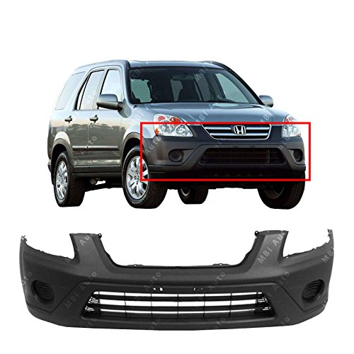 MBI AUTO - Textured, Black Front Bumper Cover Fascia for 2005 2006 Honda CRV CR-V EX LX 05 06, HO1000225 (2006 Honda Crv Front Bumper)