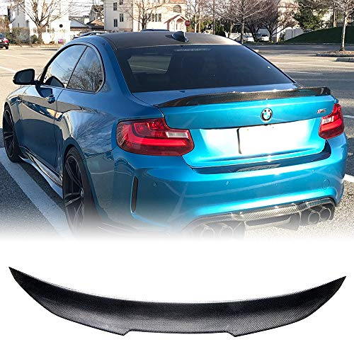 Rolling Gears Carbon Fiber Trunk Spoiler Fits BMW 2er F22 Sedan and M2 F87, High Kick -