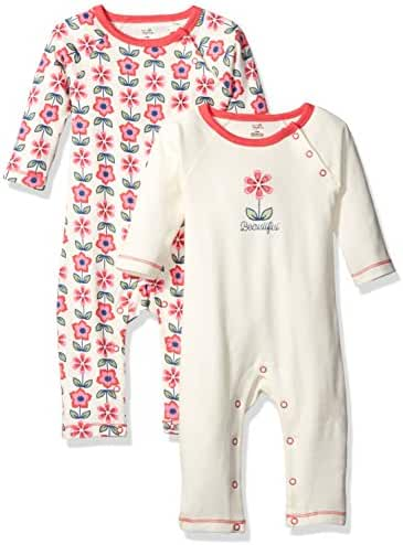 Touched by Nature Baby Organic Cotton Union Suit 2-Pack