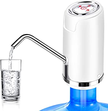 ISMARTEN USB Charging Automatic Drinking Water Pump Portable Electric Water Dispenser Water Bottle Switch for Universal 5 Gallon Bottle for Home Kitchen Office Camping Water Bottle Pump