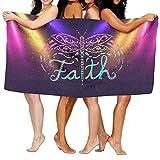 Colorful Faith Dragonfly Towels Soft Natural Beach Bath Towel, 32 X 52 Inch