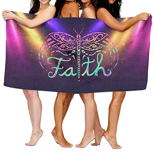 Colorful Faith Dragonfly Towels Soft Natural Beach Bath Towel, 32 X 52 Inch by Wuktour