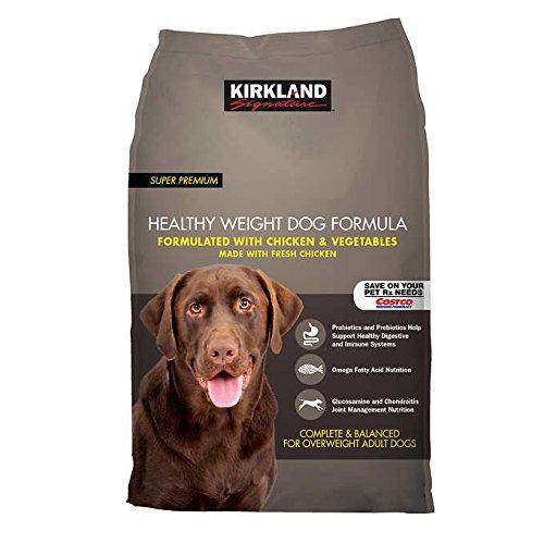 Kirkland Signature Healthy Weight Formula Chicken & Vegetable Dog Food 40 lb by K. Signature