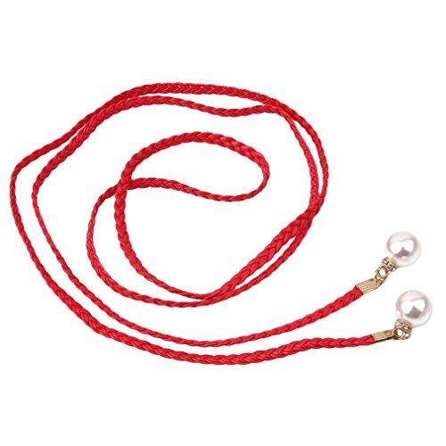 Odn Di Cintura Canapa Colori Cintura Corda Knited Femminile Di Perla Rossa Caramella Treccia rwW6t8Pxrq