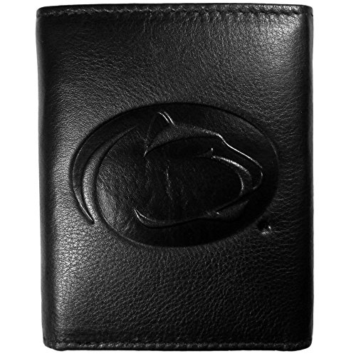 Siskiyou NCAA Penn State Nittany Lions Embossed Black Tri-fold Leather Wallet