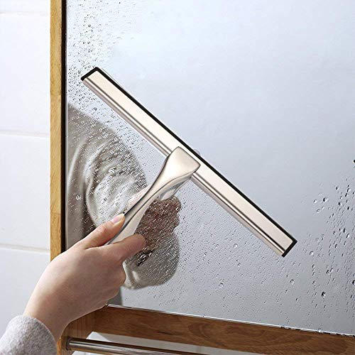 Hiware All-Purpose Shower Squeegee for Shower Doors, Bathroom, Window and Car Glass - Stainless Steel, 14 Inches by Hiware (Image #2)