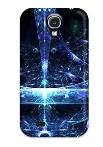 Durable Defender Case For Galaxy S4 Tpu Cover(fractal)
