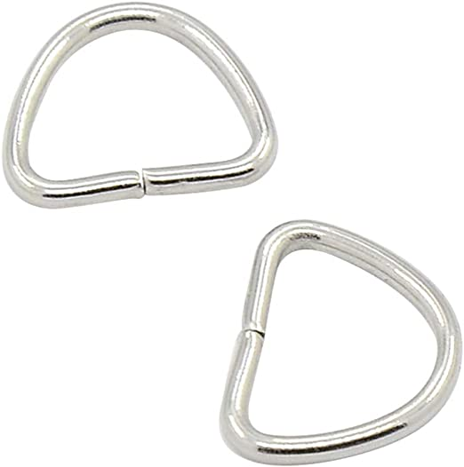 20 Round Stainless Surgical Steel Split Ring Keyring Jewelry Findings Small Big