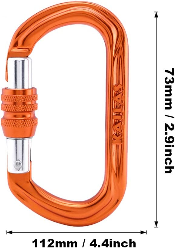 KAILAS Screwgate Auto Locking Carabiner Clip 25KN Heavy Duty Professional Large Rock Climbing Carabiners for Ice Climbing Mountaineering Camping