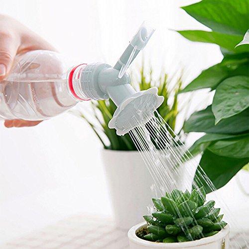 (CCatyam Watering Can, Bottle Cap Sprinkler, Plastic Watering Cans Nozzle, 2 in 1 Mist Shower Head Tool for Indoor Seedlings Garden Flower Vegetables (1 x Watering Sprinkler Nozzle, Gray))