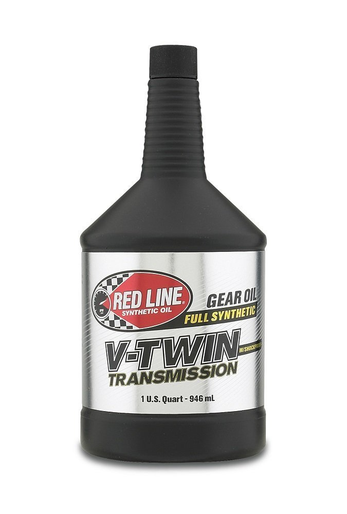 Red Line Oil RED42804 V-Twin Transmission Oil with Shockproof Fluid, 1 quart (4) by Red Line Oil