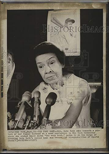 Vintage Photos 1973 Press Photo Mrs Babe Ruth Wishing Hank Aaron The Best