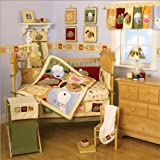 Nojo Day At the Zoo Animals 6pc Crib Bedding Set