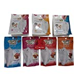Purina Fancy Feast Crispy Tender Duos and Purely Fancy Feast Natural Cat Treat Variety Pack, 7 Total Treats One of Each Flavor