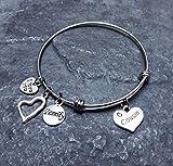 Cousin Charm Bracelet Family Gift Stainless Steel Expandable Bangle