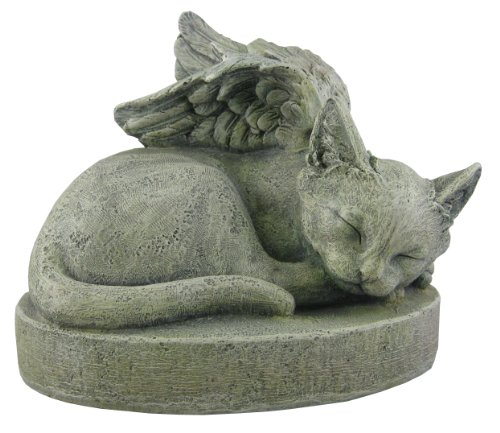 Sympathy Cat - Cat Angel Pet Memorial Stone