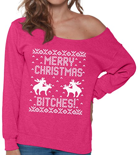 Merry Christmas Bitches Deer Making Love Ugly Christmas Sweater Hoodies for Men