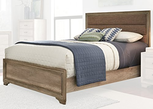 Liberty Furniture INDUSTRIES 439-BR-KUB Sandstone Finish Sun Valley Upholstered Bed, King (Liberty Furniture Antique Headboard)