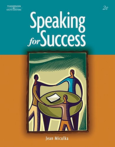 Speaking for Success (WinningEdge Titles) by Brand: South-Western