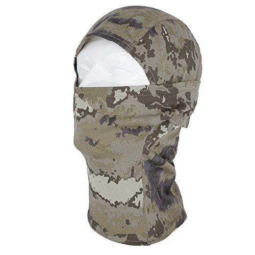 Usa Flexible Mask Paintball (TClian Camouflage Balaclava Hood Ninja Headwear Outdoor Cycling Motorcycle Hunting Military Tactical Helmet Liner Gear Full Face Mask (Mountain))