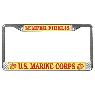 Mitchell Proffitt US Marines Semper Fidelis License Plate Frame: Automotive