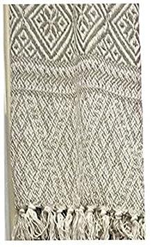 Dorte Maison.- Plaid Couverture 100% coton Réversible 125 x 150 cm, beige Dorte Hogar