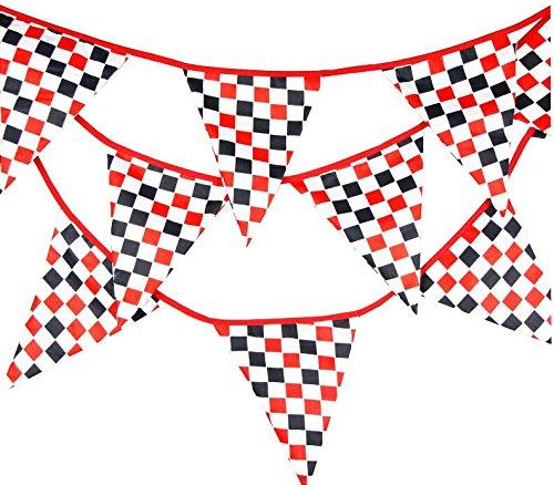 EBTOYS Checkered Racing Flag Checkered Race Car Pennant