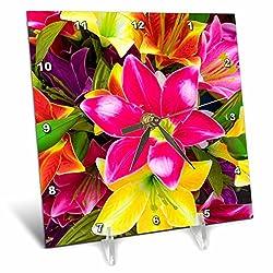3dRose Danita Delimont - Flowers - Vietnam, Hanoi. Flower market - 6x6 Desk Clock (dc_257308_1)