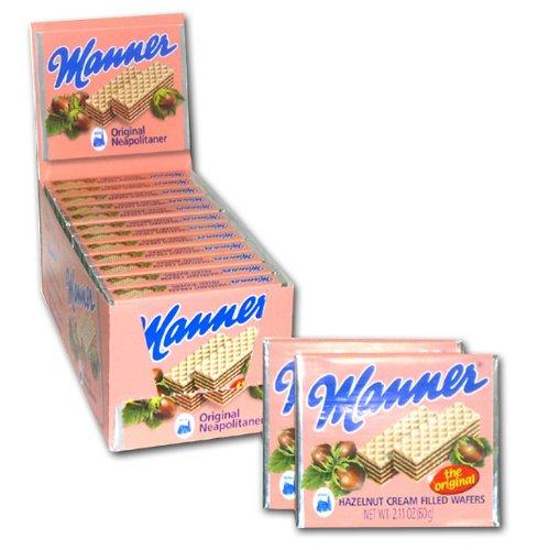 - Manner Hazelnut Wafer Cookies, 2.11 Ounce - 12 per case.