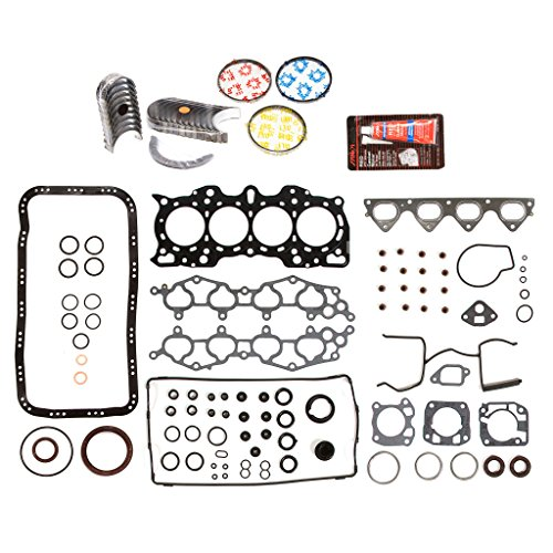 Evergreen Engine Rering Kit FSBRR4011EVE\0\0\0 Fits 90-01 Acura Integra B18A1 B18B1 Full Gasket Set, Standard Size Main Rod Bearings, Standard Size Piston Rings ()