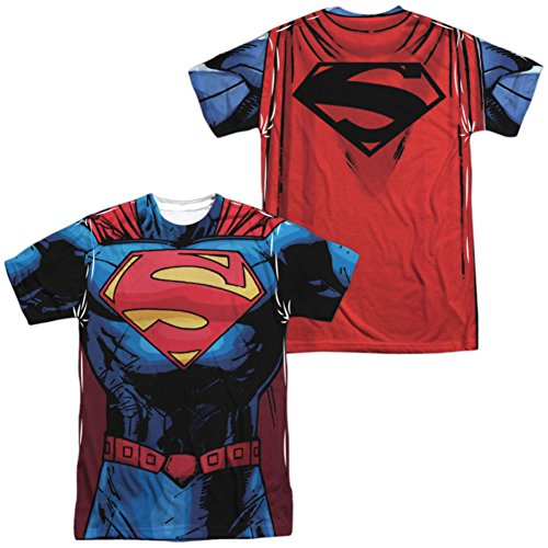 Superman- New 52 Costume Tee (Front/Back) T-Shirt Size -