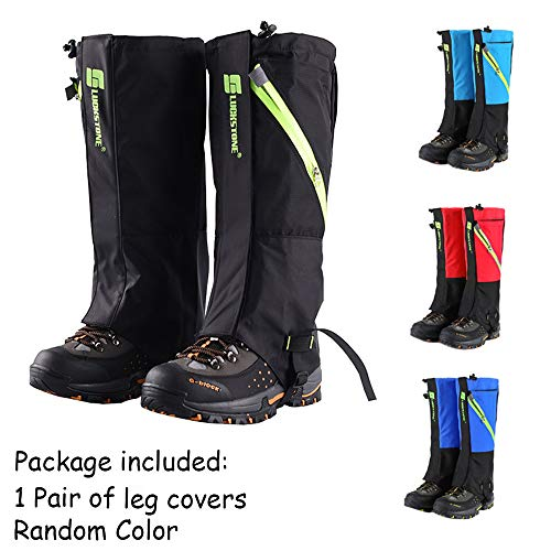 Hiking Gaiters for Outdoor Durable Hunting Snow Ski Boot Gaiters Guard Legging Leg Cover Wraps Waterproof Walking Gaiters Snow Legging Leg Cover Wraps for Hiking Climbing Hunting Camping Random Color