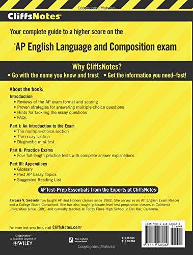 CliffsNotes AP English Language and Composition, 4th Edition (Cliffs AP) by Cliffs Notes