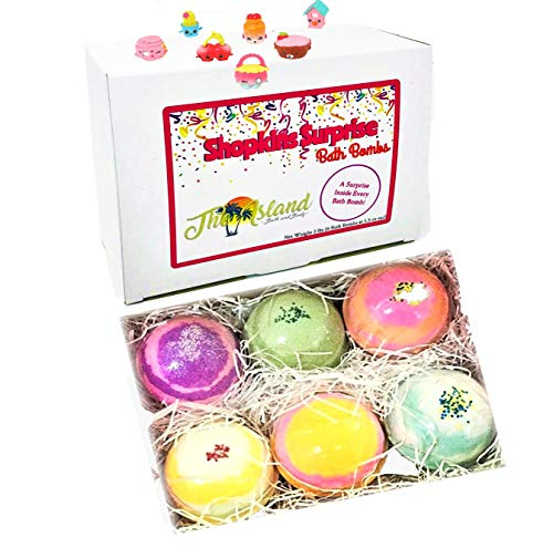 (6 XL Surprise Bath Bombs Gift Set w/Surprise toy inside each bath bomb)