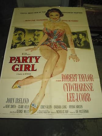 Party girl Cyd Charisse vintage movie poster