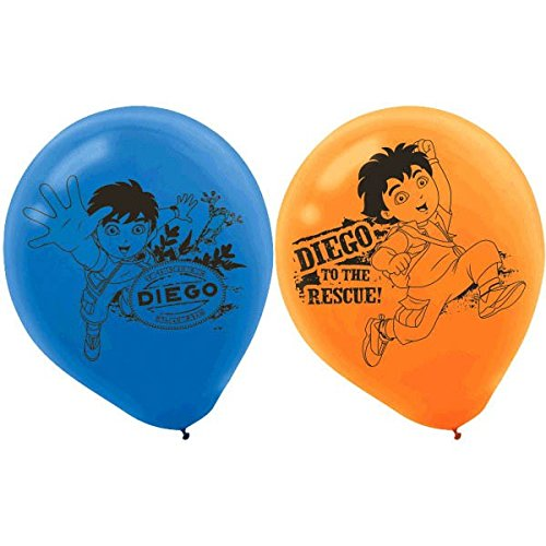Festive Diego's Biggest Rescue  Printed Latex Birthday Party Balloons Decoration, 12