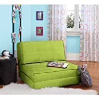 Zone Flip Chair Convertible Positions,Completely Fold up into a Comfortable chair, Multiple Colors (Green Glaze)