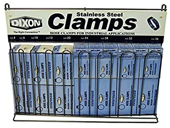 Dixon CRWC Nickel Plated Steel Worm Gear Clamp Rack with 200 Clamps