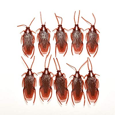 """EatFishinSea - Fake Plastic Cockroaches 2.8"""" x 0.7""""- Set of 10 - Realistic Looking roaches are Perfect for Pranks or Decorations.: Toys & Games"""