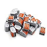 Antrader 3 Port Lever Conductor Compact Wire Connector PCT-213 Terminal Block 30pcs