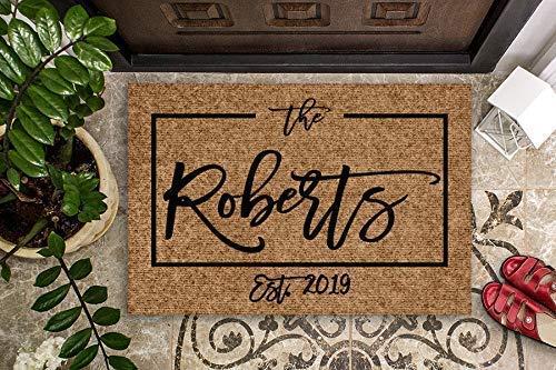 Welcome Doormat Housewarming Gift Wedding Gift Personalized Doormat Closing Gift Front Door Mat Monogram Doormat Custom Welcome Mat