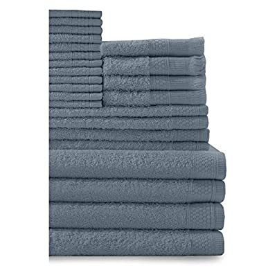 Baltic Linen Company Multi Count 100-Percent Cotton Complete 24-Piece Towel Set