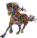 EMIRACLEZE Christmas Gift Hot Sale Pentium Horse Flower Colorful Pattern Sofa Background Personality