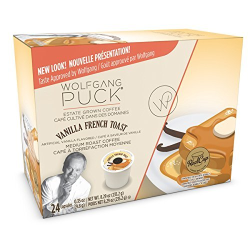 Wolfgang Puck Coffee Single Serve Capsules, Vanilla French Toast, 24 Count