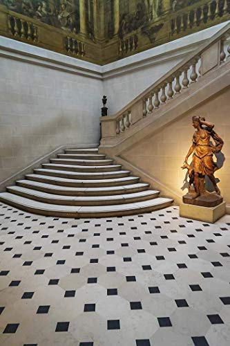 - Paris, Photography, Carnavalet Museum, mansion, History of Paris, Diana, goddess of the hunt, France, Europe, Art Print, Wall Art, Gift, Decor, staircase, tile floor, Photo