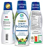 Premium Liquid B Complex Vitamin- Fast Absorbing Liquid B-Complex Supplement w/ all 8 B-vitamins, PLUS energizing herbal blend w/ Ginseng, Ginkgo, and Eleuthero Root – Vegan, NON-GMO – 16oz, 32 Serv Review