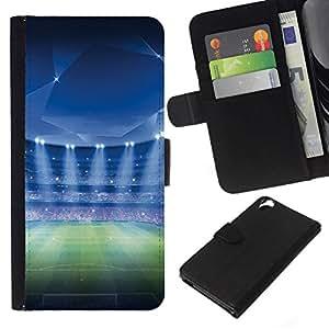 NEECELL GIFT forCITY // Billetera de cuero Caso Cubierta de protección Carcasa / Leather Wallet Case for HTC Desire 820 // Estadio de fútbol