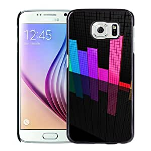 Beautiful Custom Designed Cover Case For Samsung Galaxy S6 With Colored Equalizer Spectrum Phone Case Cover
