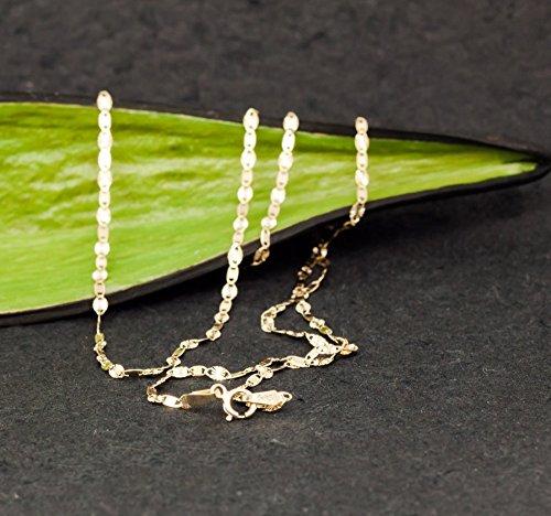 ASS 585or collier chaîne Singapour de collier femme en plättchen diamantés 1,8mm 45cm